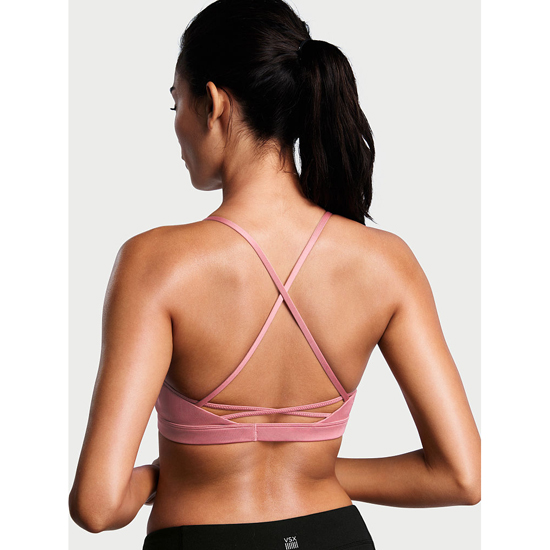 Cheap VICTORIA\'S SECRET Rosy Mauve NEW! Lace-up Sport Bra Online