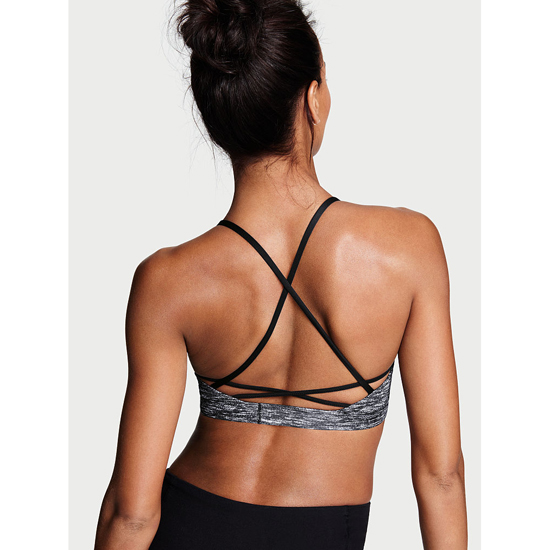 Cheap VICTORIA\'S SECRET Coed Marl NEW! Lace-up Sport Bra Online