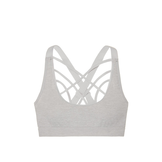 Cheap VICTORIA\'S SECRET So Silver Melange NEW! Strappy-front Seamless Sport Bra Online